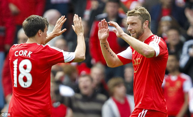Up top: Rickie Lambert will be chosen in Roy Hodgson's 23-man squad as the fourth striker