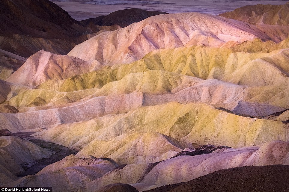 Colours: David Hellard, who doesn't like heights, climbed 650 feet up a steep mountain trail in the Amargosa Range to take his photographs