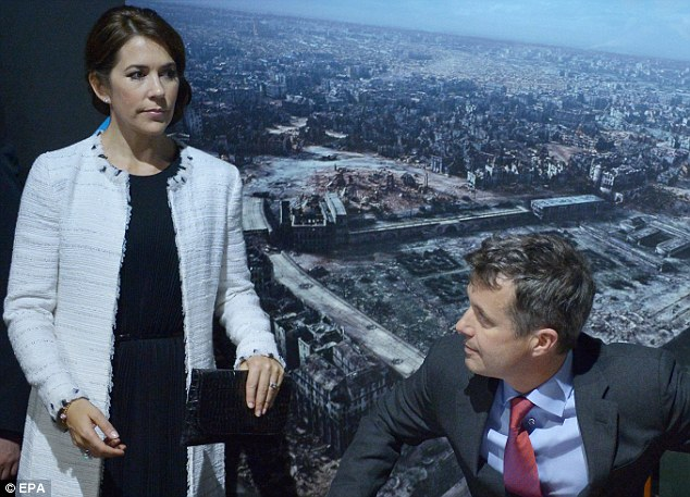 Crown Prince Frederik of Denmark and Crown Princess Mary visit the Warsaw Uprising Museum, in Warsaw