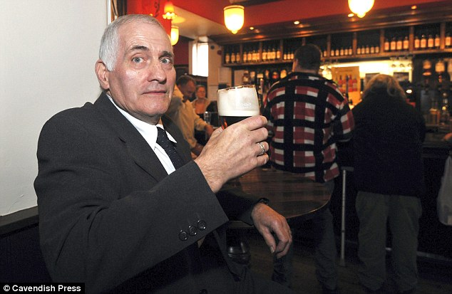 Happy drinker: Keith Emmott, pictured, has been drinking at the establishment since before its transformation, and approves of the change