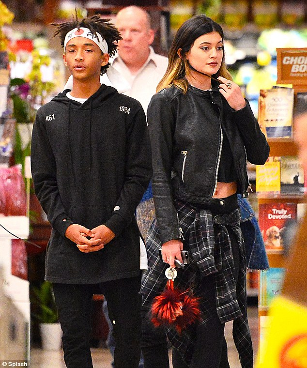 Grocery run: Smith and Jenner at a supermarket in Calabasas, California in early March