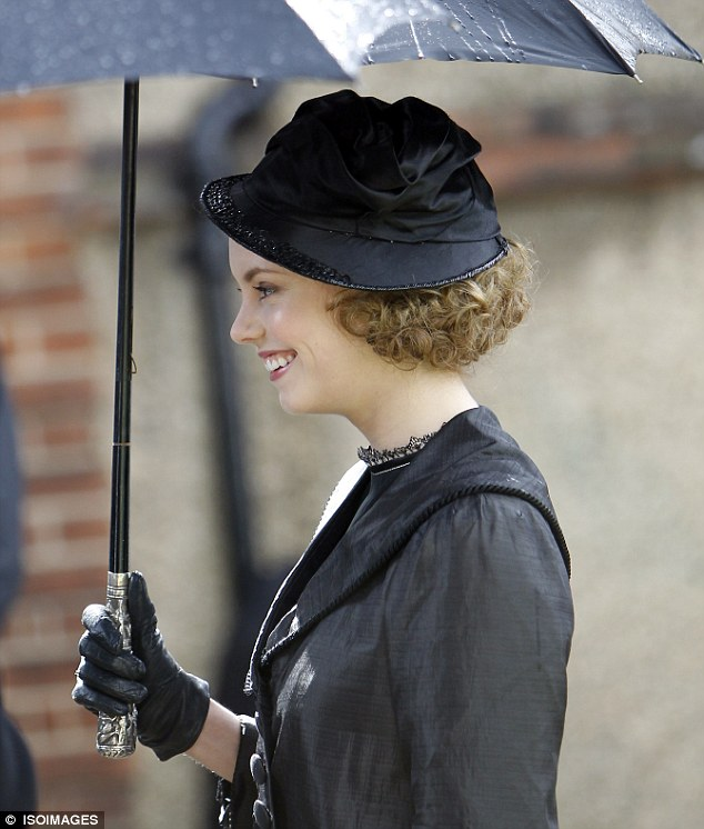 Light relief: there was also time for some fun on set for the Tointon sisters during their heavy first scene