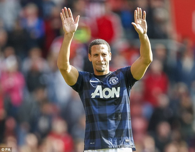 Moving on: Rio Ferdinand will leave Manchester United on a free transfer this summer