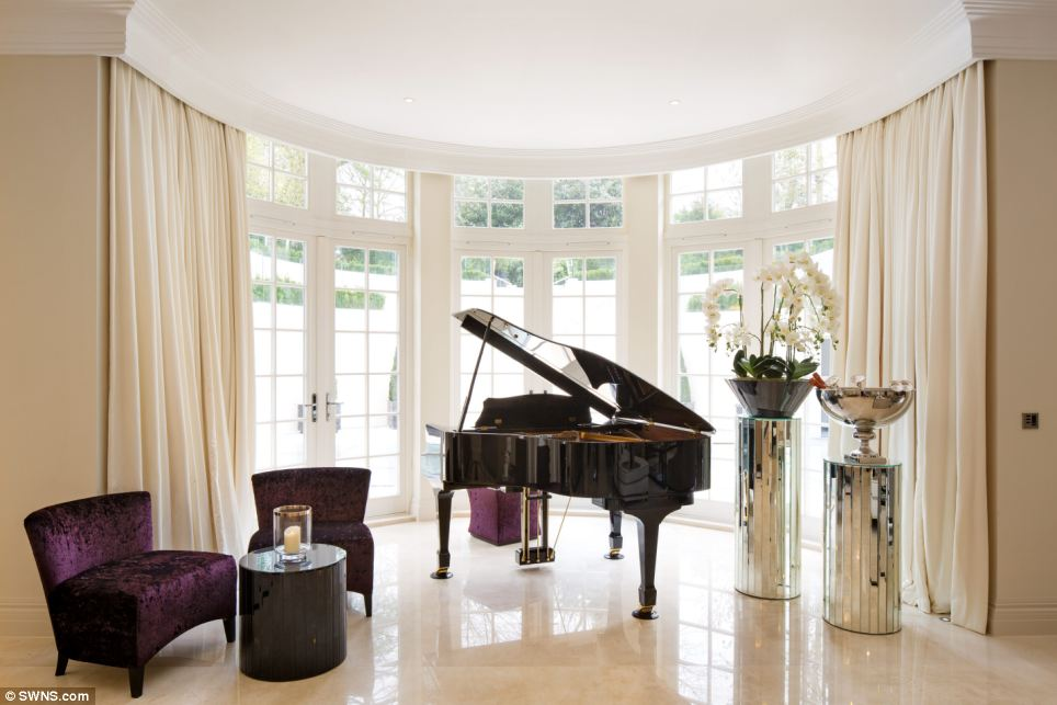 Music to your ears: After 18 months, work on the new high specification home is now complete, with the luxury accommodation spread over a staggering 17,000 square foot