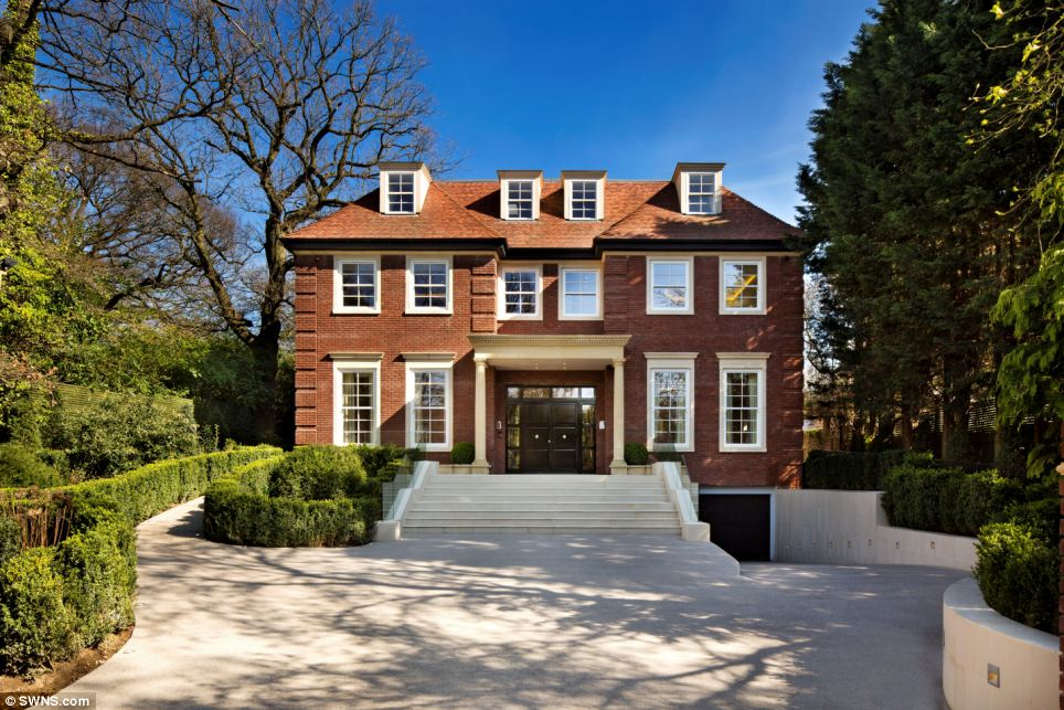 Location location: Fairways, which is one of Britain's most expensive new build homes, is located on The Bishop's Avenue in north London, dubbed Billionaire's Row