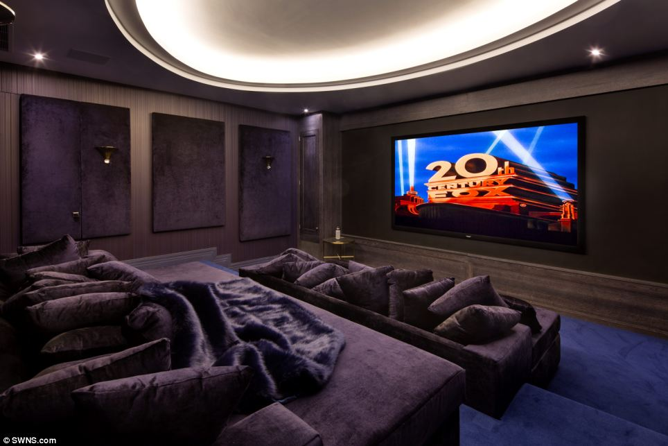 Blockbuster: Film buffs won't need to travel to the local multiplex if they want to catch the latest releases as they can watch in style from the comfort of this cinema room