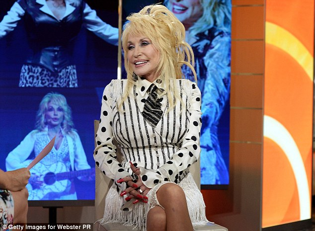 Revealing all: Dolly shot down the tattoo sleeves rumour but said she had some small inkings