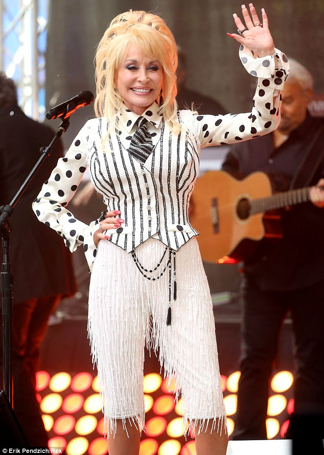 In a league of her own: Dolly looked fantastic as she owned the Today Show