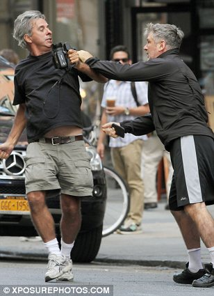 Attack: Baldwin was caught on camera attacking a paparazzo in New York in 2013