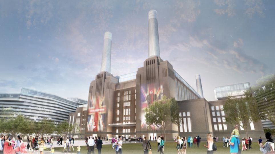 Modern: New plans for the power station include luxury properties, a new tube station, a shopping mall, cinema complex, restaurants and outdoor gardens