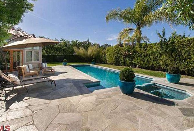 Where Hazel will learn to swim: The Hollywood Hills property has a swimming pool and hot tub