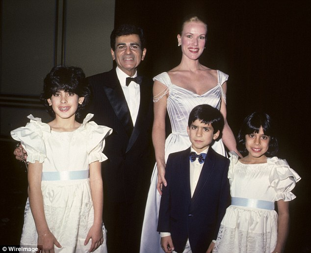 Ties: Radio Personality Casey Kasem, is seen with wife Jean Kasem, daughter Kerri Kasem, son Michael Kasem and daughter Julie Kasem on January 25, 1985. The children are from another marriage