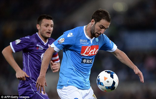 Strike force: Along with Messi and Aguero, they have Napoli danger man Gonzalo Higuain at their disposal