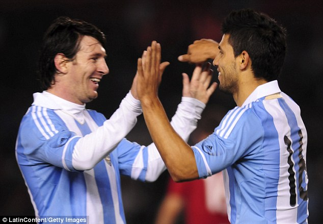 Star power: Lionel Messi and Sergio Aguero lead a star-studded forward line for Argentina