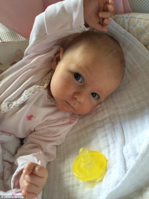 Adorable: And the English rose could not help but boast about how cute her pride and joy is