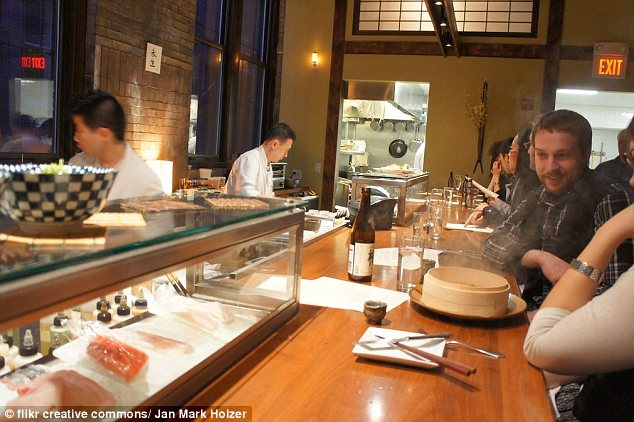 By the water: Boston's O Ya sushi is located in the waterfront district and serves two tiers of omakase, with the more pricey one clocking in at $285