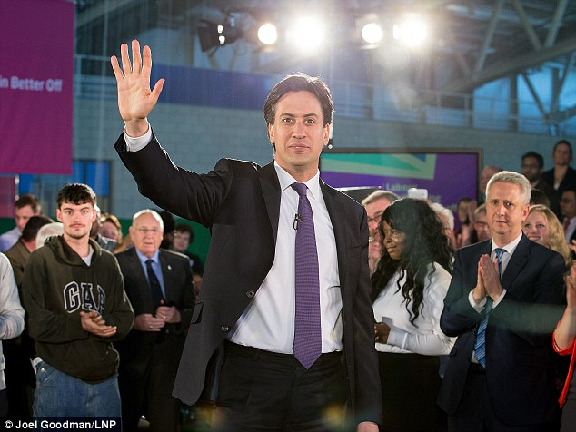 Labour's jitters over its prospects at next year's general election have grown, after two polls showed it had fallen behind the Tories for the first time in more than two years. But Mr Miliband yesterday insisted he and his party were focusing on 'the issues the country is facing'