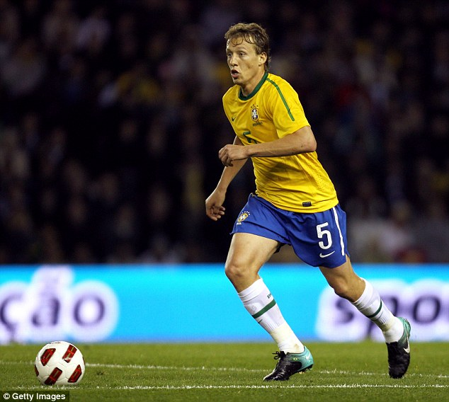Waiting game: Liverpool midfielder Lucas Leiva is now a back-up option for manager Luiz Felipe Scolari