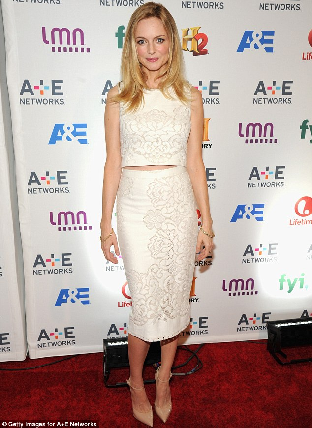 Vision in ivory: The star attended the A&E Networks Upfront on Thursday in NY; she will soon be seen in Lifetime's Petals On The Wind on May 26