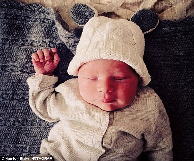 Healthy baby boy: Sonny was born at Epworth Freemasons in Melbourne at midday on Saturday