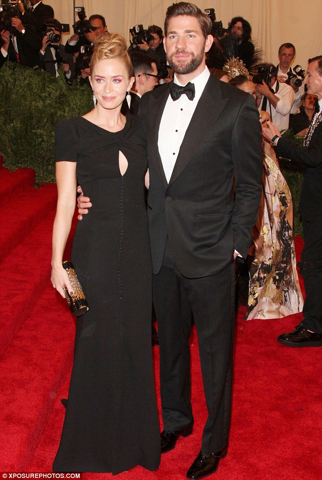 Daddy cool: Emily insists husband John Krasinski is the 'greatest dad' to their little girl