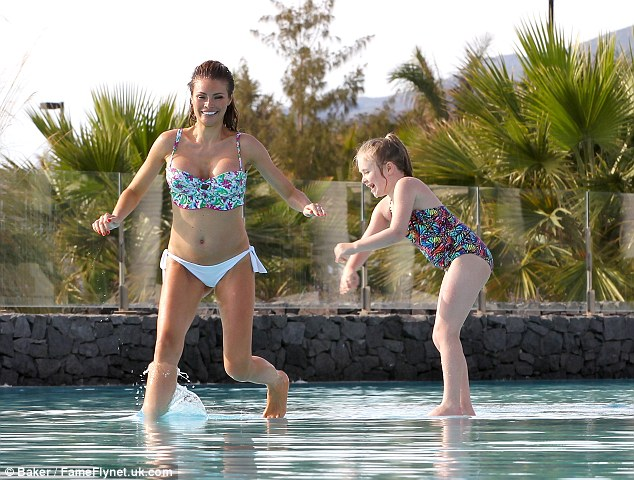 No more! Chloe walks on water in a bid to escape her energetic daughter