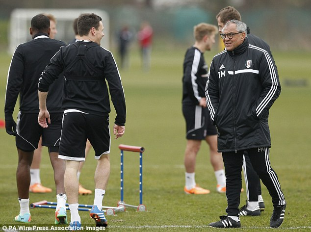 Carry on training: Felix Magath takes training earlier in the season and has continued to take sessions after the season