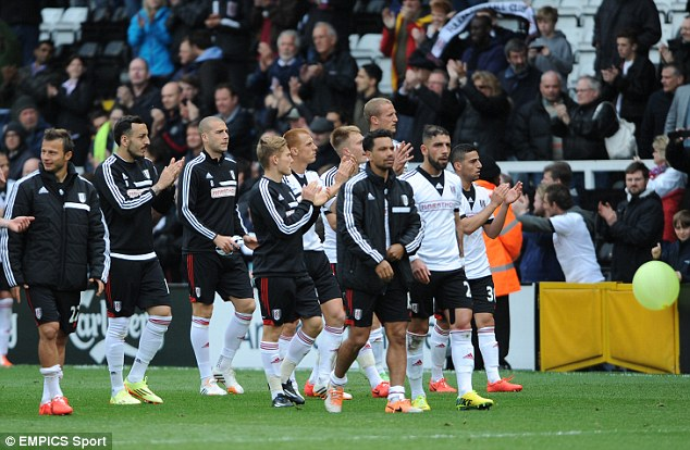 Down and out: Fulham were relegated after a disastrous season