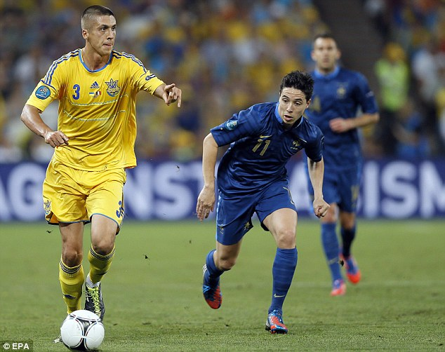 Left out: Samir Nasri has not been included in France's 23-man squad for the World Cup