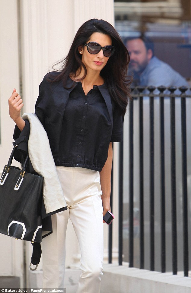 George Clooney's fiancee Amal Alamuddin joined by her ...