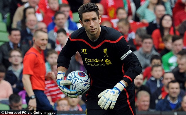 Leading the way: Reds keeper Brad Jones captained his side for the friendly in Dublin