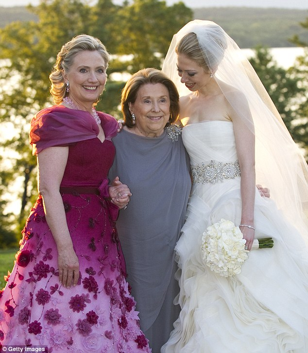Three generations: Dorothy became one of the most important figures in now pregnant Chelsea Clinton's life, says Hillary in her memoir. 'Mom helped Chelsea navigate the unique challenges of growing up in the public eye and, when she was ready, encouraged her to pursue her passion for service and philanthropy.' But family members say Dorothy couldn't get along in life unless she had something to be angry about