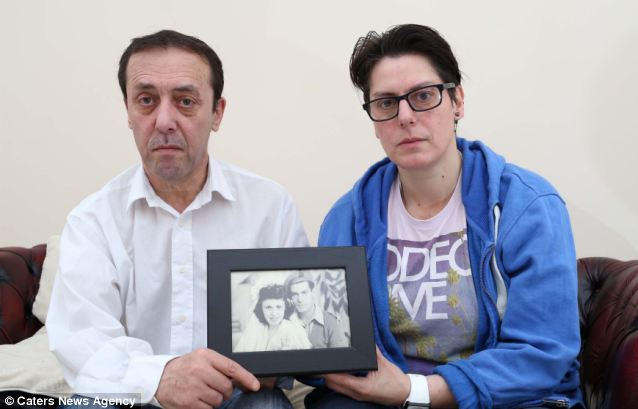 Anastasia and Jimmy holding a photo of their mother and father). They found their mother Helen lying dead in her hospital bed unnoticed by nurses