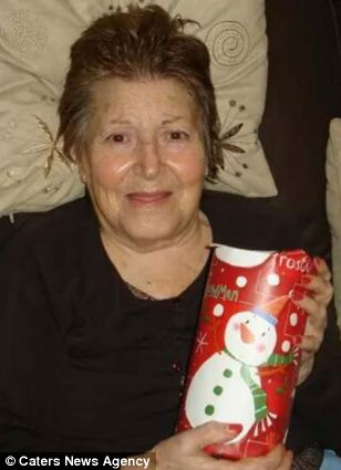 Neglected:  Helen Weldon, 85, was only due to be in Heartlands Hospital, Birmingham for a routine check-up after being admitted to A&E for choking on some water