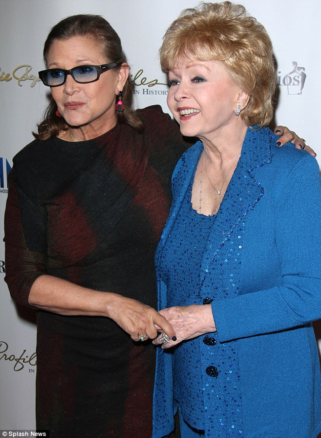 Good spirits: Debbie said earlier this month that Carrie looked 'terrific' after her dieting efforts
