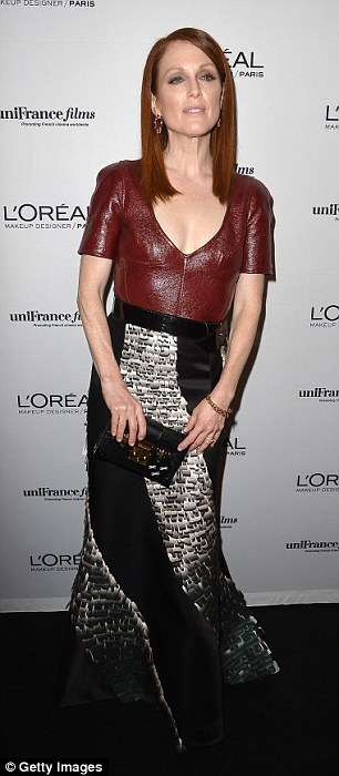 Busy bee: Julianne Moore later head off to the  L'Oreal & Unifrance Films 65th Anniversary Cocktail at Hotel Martinez