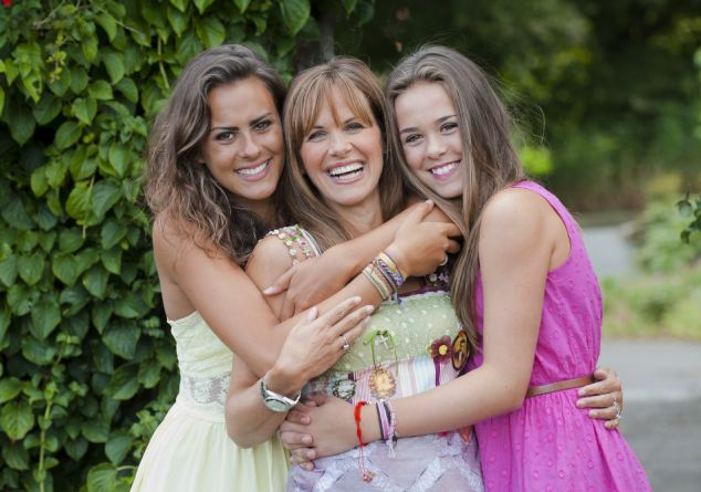 Carol with her daughter Christie, 19 (left) and daughter Jodie, 14 (right)
