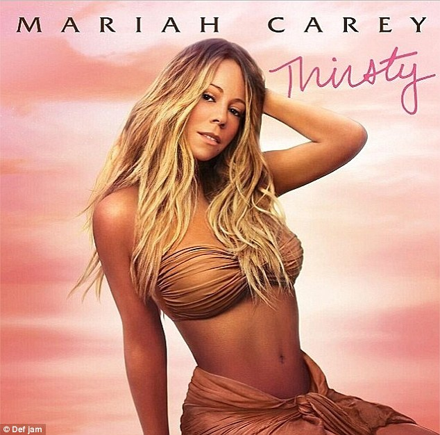Like a goddess: Mariah's cover for her new single Thirsty featured her in a bandeau bikini top and sarong
