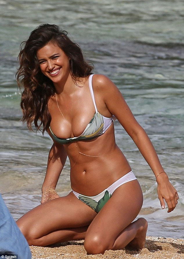 Natural environment: The stunning brunette on a Sports Illustrated photoshoot in Hawaii on May 4