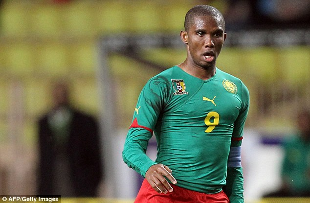Veteran: Eto'o will take part in his fourth World Cup with Cameroon in Brazil this summer