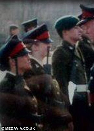 Marie at her passing out parade following her army training
