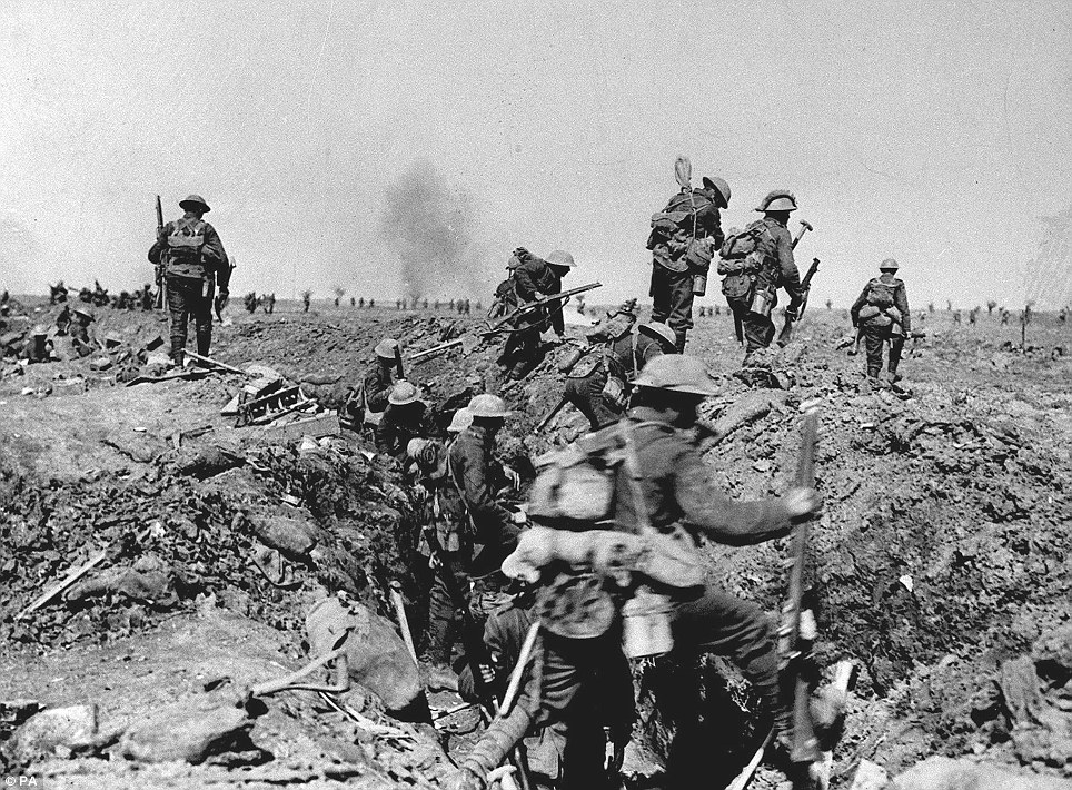 The tactics used by the rebels mirror those employed in World War One when miners would dig tunnels under No Man's Land to plant explosives beneath the enemy
