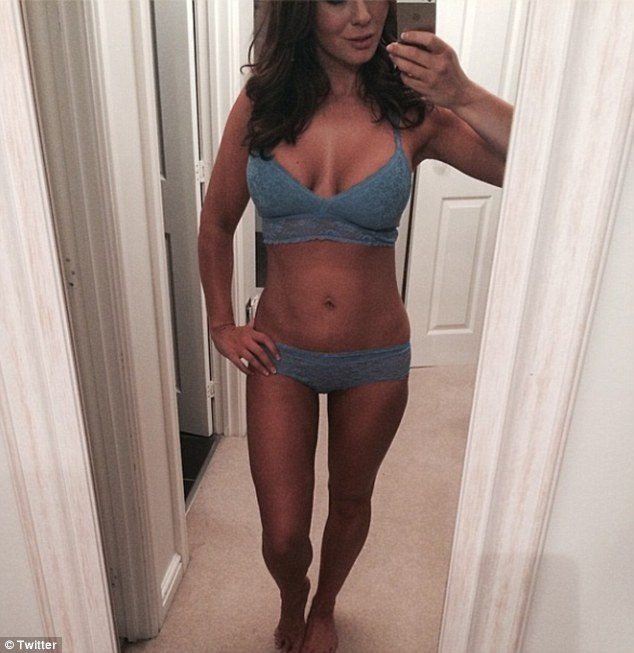 Unrecognisable: Model Chanelle Hayes shows off her impressive new lean look on her Instagram account after gaining three stones and posts a series of flattering selfies
