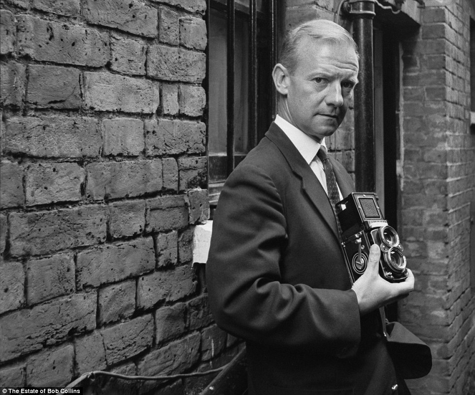 Successful: Bob Collins (pictured) left his job as a watchmaker in Covent Garden in the early 1950s and carved out a successful career as a photojournalist in the capital