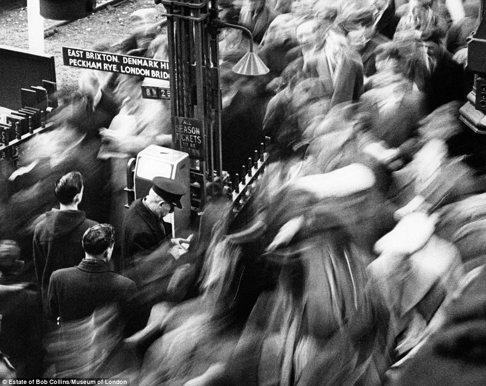 Life is a blur: Using techniques ahead of his time such as a slow shutter speeds, the photographer bestowed new depth on scenes like this one in 1960 at Victoria station