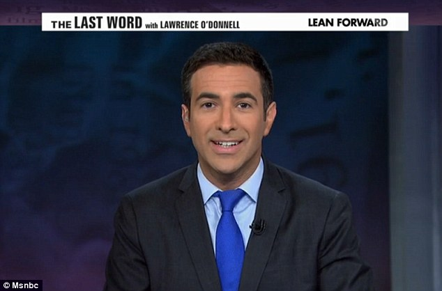 Funnyman: Ari Melber joked that if O'Donnell returns to MSNBC in June, he would be able to make vacation plans