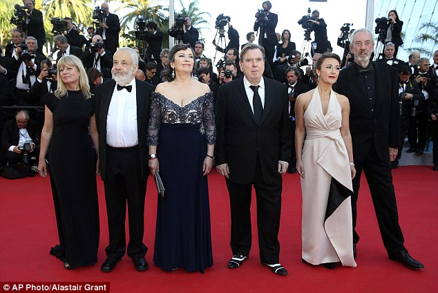 VIP snap: From second left, director Mike Leigh, actress Marion Bailey, actor Timothy Spall, actress Dorothy Atkinson and director of photography Dick Pope