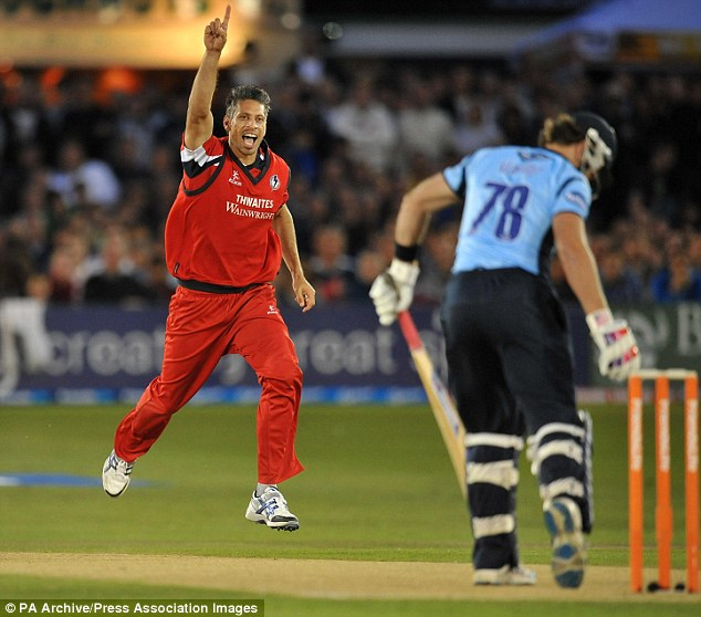 Out of line: Vincent threw his wicket in matches but on this occasion against Lancashire in a T20 quarter-final, defied his paymasters