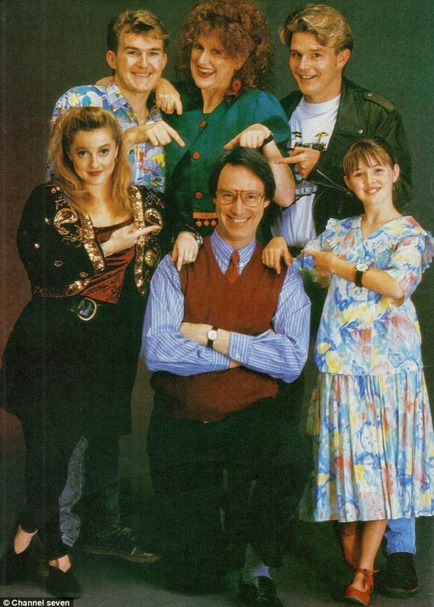 Ms Monahan (front right) joined the cast of Hey Dad! at the age of six, and claims she was just 10 when Robert Hughes started exposing himself to her