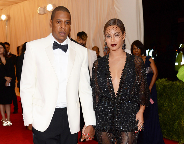 United: Jay Z and Beyonce were  pictured at the Met Gala earlier this month before the skirmish in the elevator